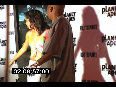 Aaliyah & Damon Dash At The Planet Of The Apes World Premiere