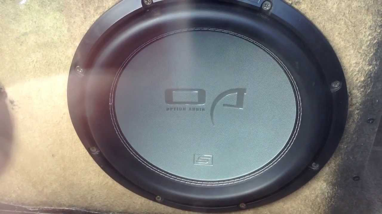 Dual Option Audio Street Series Subs with OAK1200 Amp - YouTube