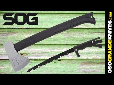 SOG Knives Backcountry Axe with Hidden Saw F17N | OsoGrandeKnives