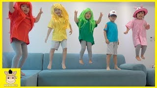 Five little Babies Jumping on the Bed Simple Songs for Children and Kids 5 Baby Song Nursery Rhymes