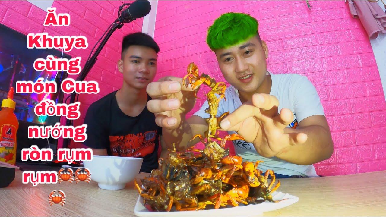 Ăn Đêm cùng món cua nướng ròn rụm rụm | Ba Sói TV ( 매콤하고 바삭하게 구운 게로 저녁 식사 | )