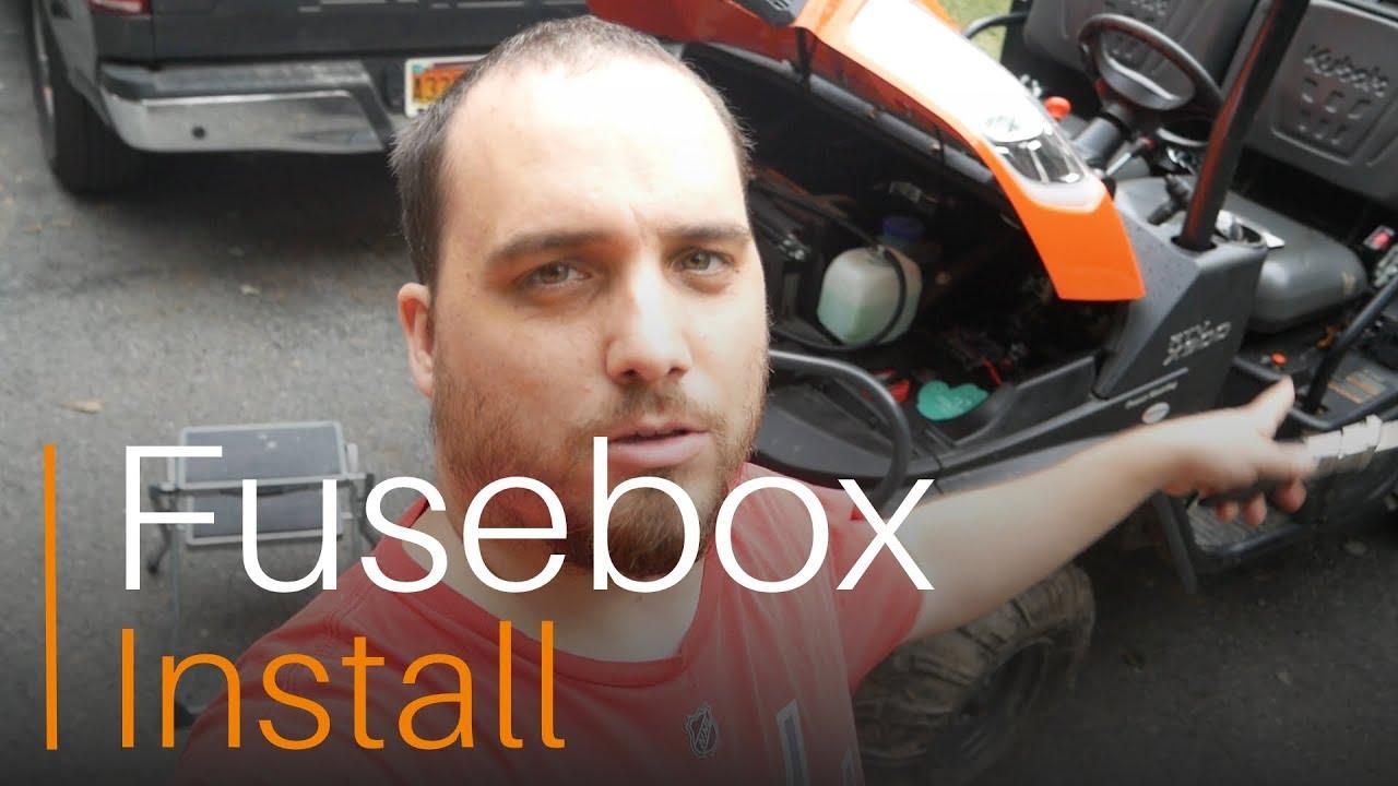 kubota x900rtv fusebox install - youtube  youtube