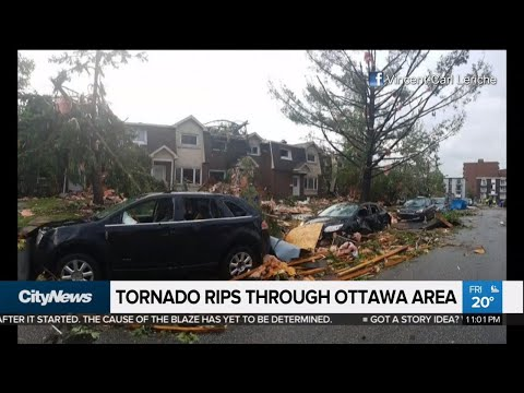'It looked like a war zone:' Tornado touches down in Ottawa