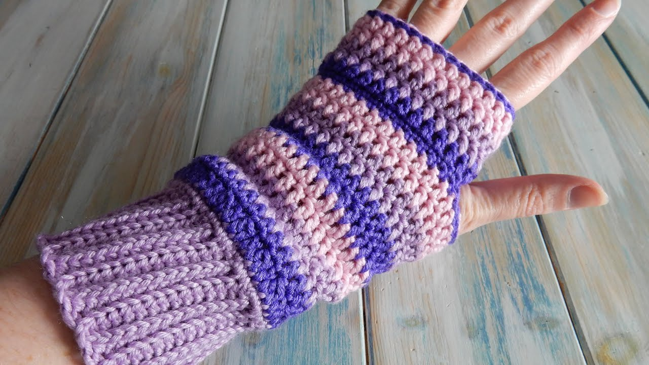 How To Design Your Own Crochet Fingerless Mittens Wrist Warmers