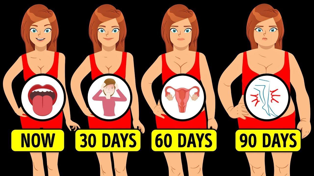 Was passiert mit Ihrem Körper, wenn Sie etwas an Gewicht zunehmen + video