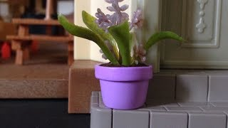 How To Make A Dollhouse Miniature Flower Pot - Diy Crafts Tutorial - Guidecentral