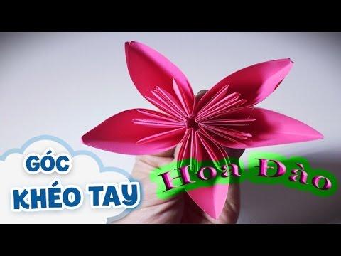 Cách làm hoa đào bằng giấy