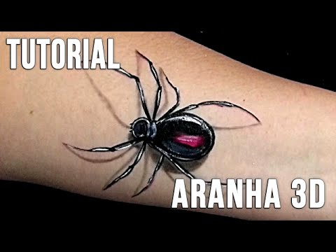 Tutorial aranha 3d pintura facial tutorial 3d spider - Pinturas para halloween ...