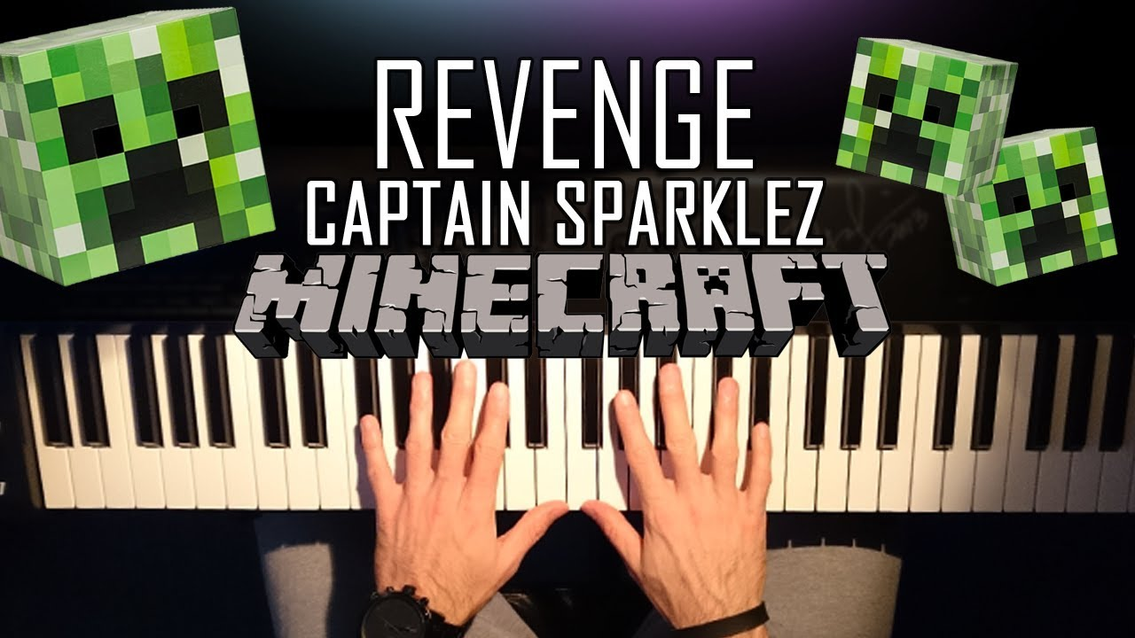 """""""Revenge"""" - A Minecraft Parody Song by CaptainSparklez  Piano Tutorial  Lesson"""