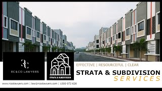 RC & Co Lawyers | Strata & Subdivision Services