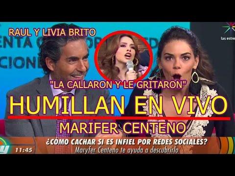 RAUL ARAIZA y LIVIA BRITO HUMILLAN Y CALLAN en VIVO a GRAFÒLOGA MARIFER CENTENO