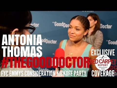 Antonia Thomas, Dr Claire Brown, interviewed at ABC's  #TheGoodDoctor Emmy FYC Event