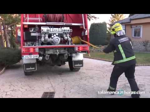 Incendio en Castellanos de Villiquera