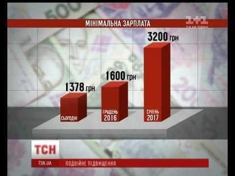 С Нового Года минимальная зарплата в Украине может вырасти вдвое
