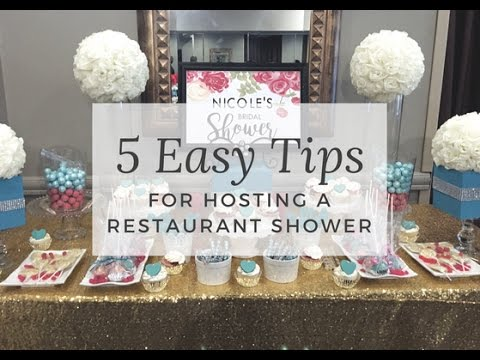 Hosting A Bridal or Baby Shower At A Restaurant!