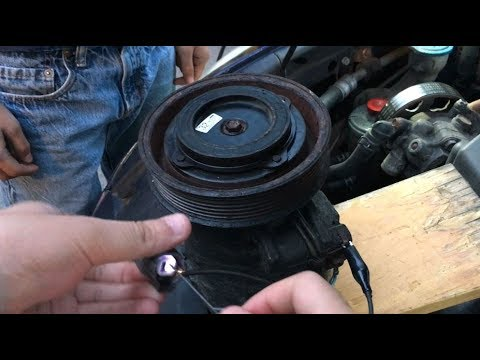 How To Test Clutch On Your Car Ac Compressor Using Simple Diy Lead Wires Multimeter Power Probe Youtube