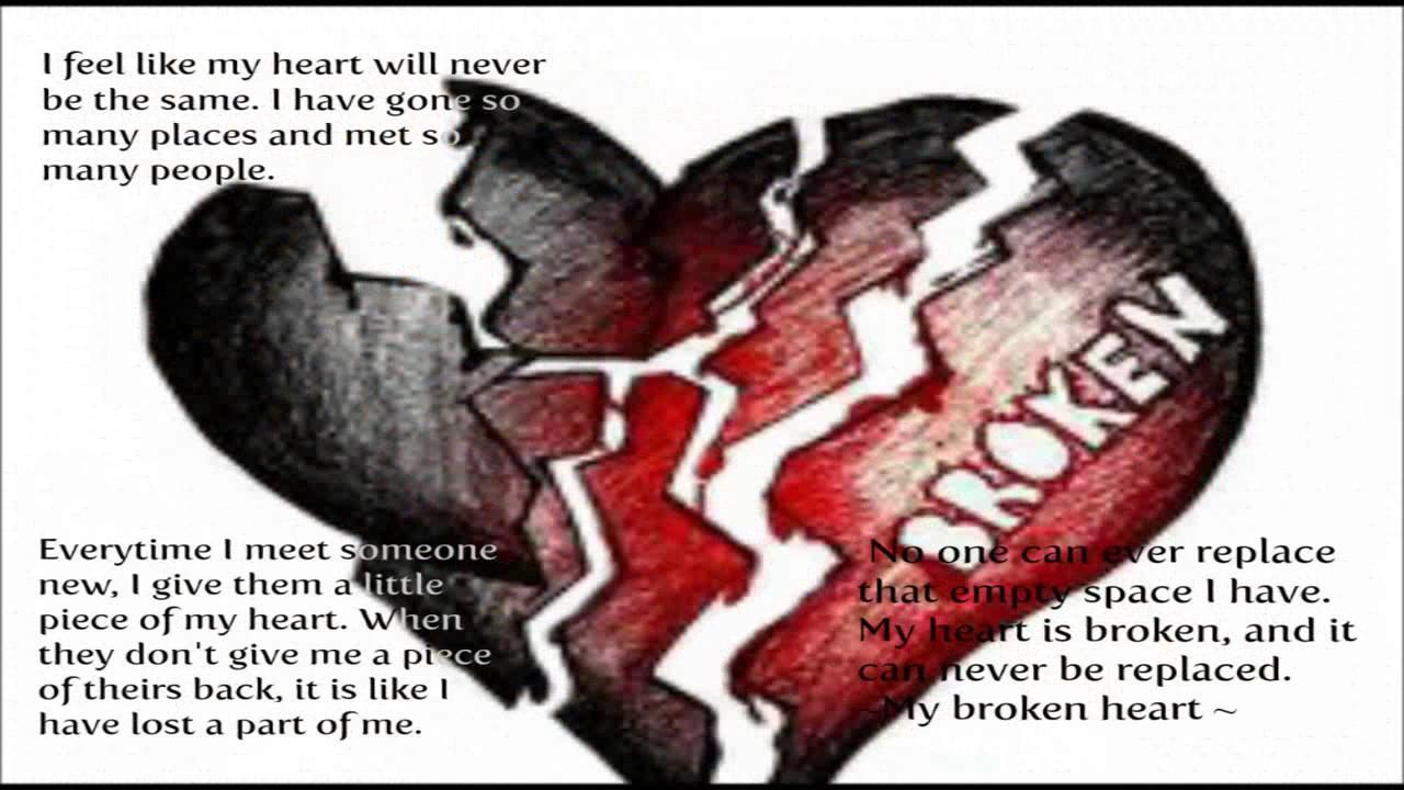 Broken Heart Romantic Quotes Wallpaper Images