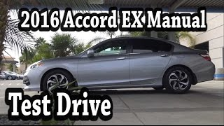 2016 Honda Accord EX Manual 0 to 60 test drive