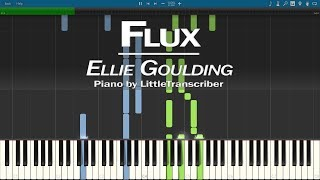 Ellie Goulding - Flux (Piano Cover) Synthesia Tutorial by LittleTranscriber
