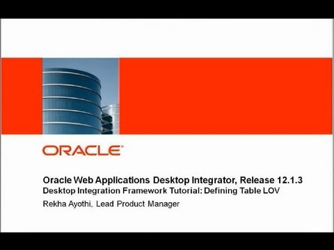 Oracle Web Applications Desktop Integrator: Tutorial - Defining Table LOV