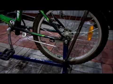 Велотренажер из велосипеда своими руками.