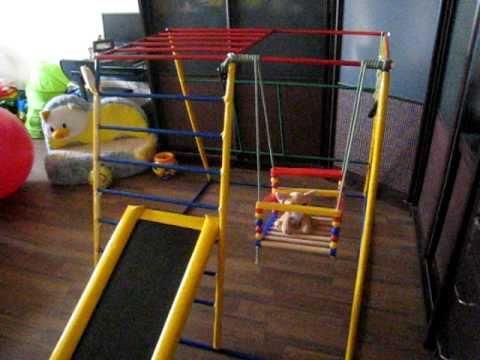 Детский спортивный комплекс своими руками, для ребёнкаиз YouTube · Длительность: 3 мин44 с