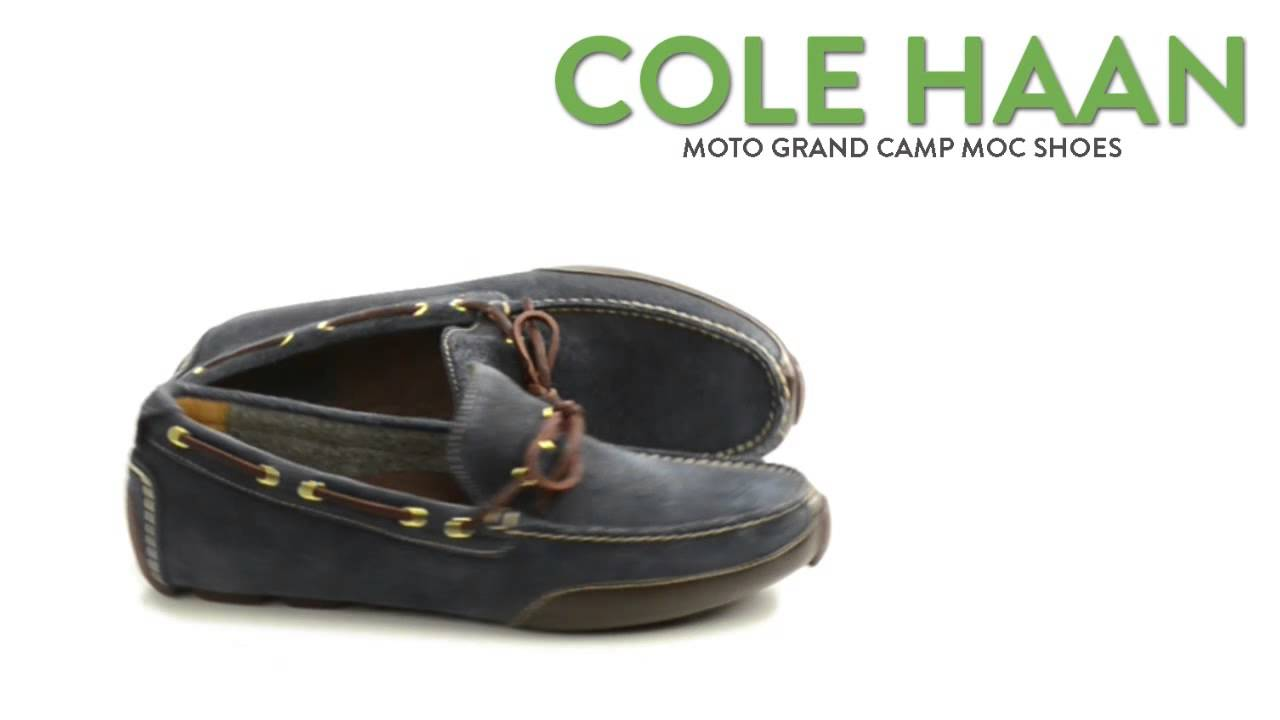 5f02c095796 Cole Haan Moto Grand Camp Moc Shoes - Slip-Ons (For Men) - YouTube