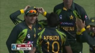Shahid Afridi 7 wickets vs Westindies
