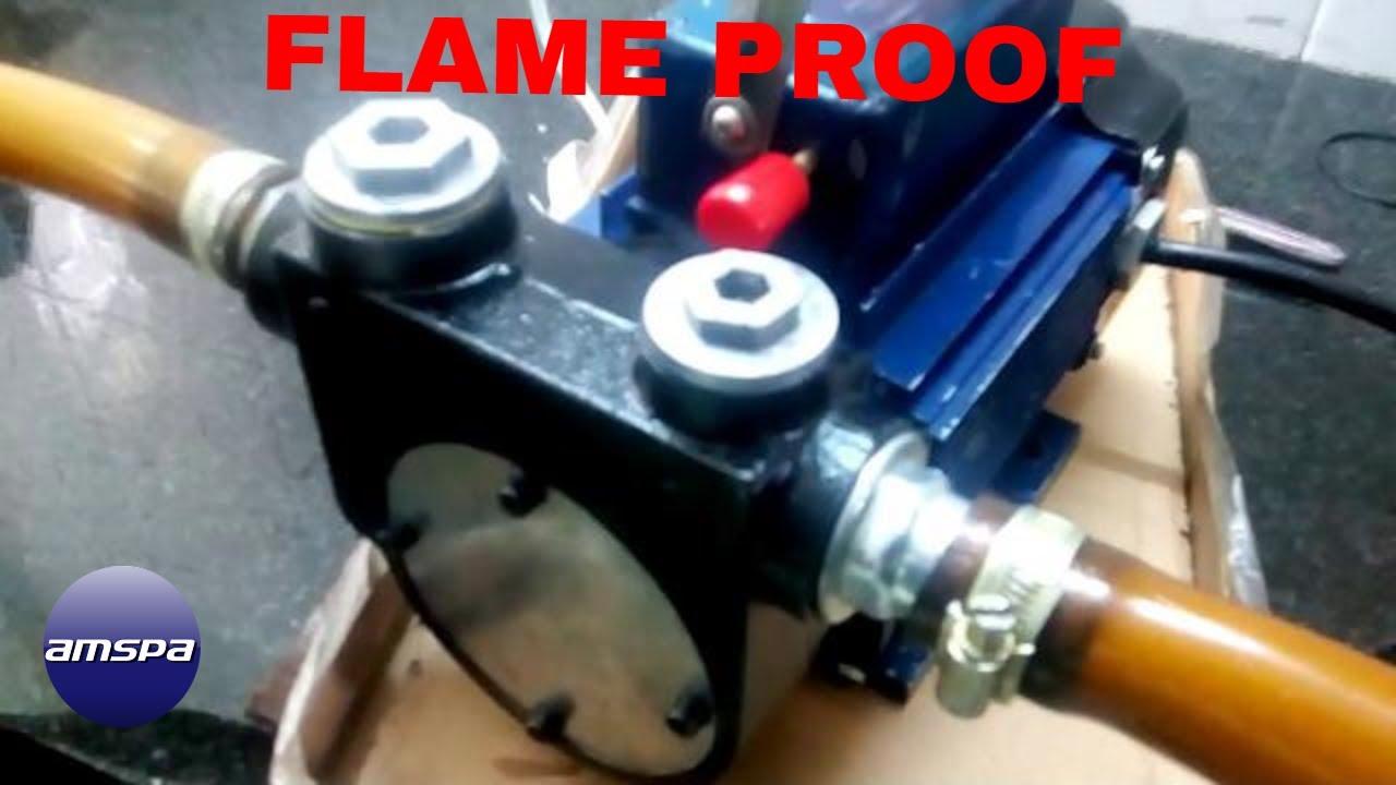 1 Hp Flameproof Petrol Transfer Pump, Max Flow Rate: 80 LPM | ID