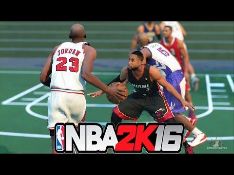 NBA 2K16 - Magic, Vince Carter, Jordan, Pippen, Duncan vs CP3, Wade, LeBron, Paul George, Carmelo