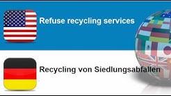 Englisch lernen #Thema = Dienstleistungen im Zusammenhang mit Siedlungs  und anderen Abfällen