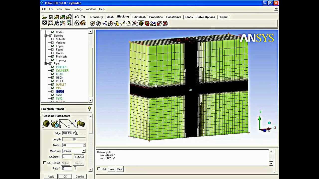 3d cylinder Hexa mesh (2/2)
