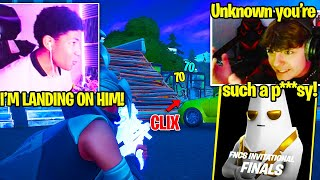 CLIX *DESTROYS* UNKNOWN then HE *STREAM SNIPES* HIM NEXT GAME in GRAND FINALS! (Fortnite SOLO FNCS)