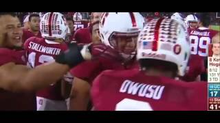 Stanford Francis Owusu incredible touchdown catch around the defender