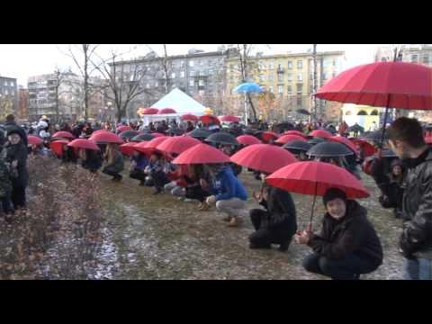 флэшмоб на Васильевском острове, СПб