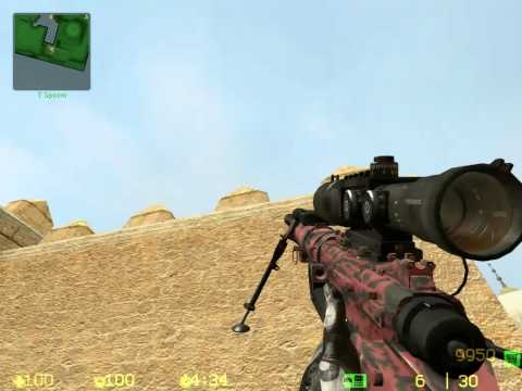 MW2 -- CSS AWP Red Tiger camo Intervention skin + Download link