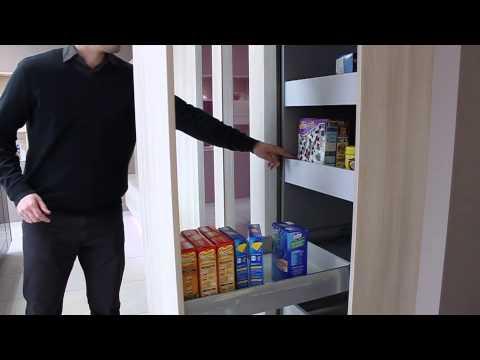 cuisine violette grand placard motorise youtube. Black Bedroom Furniture Sets. Home Design Ideas