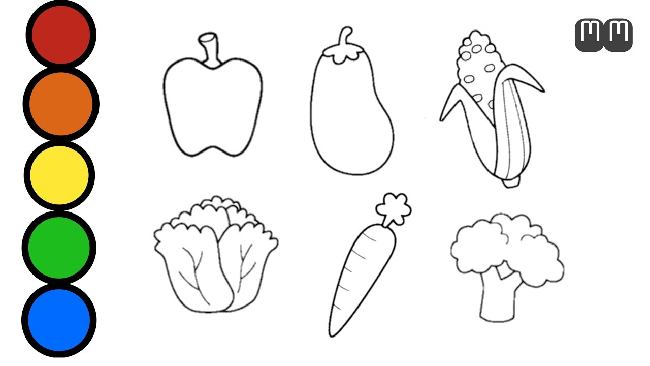 Menggambar Dan Mewarnai Sayuran Drawing And Coloring Vegetables Youtube