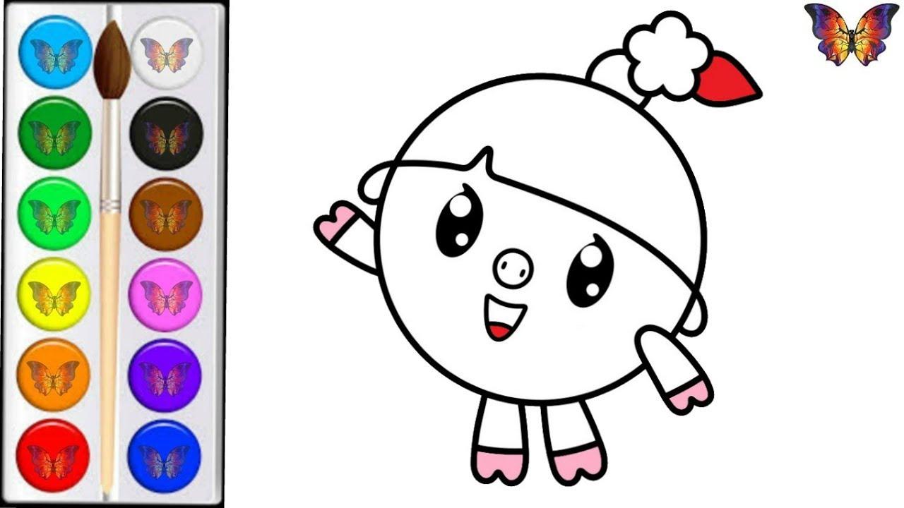 Раскраска для детей НЮША из мультика МАЛЫШАРИКИ ...