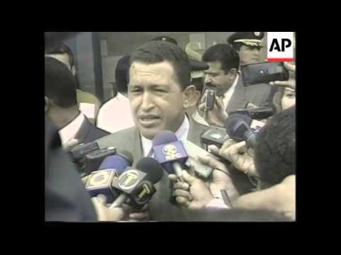 PANAMA VENEZUALAN PRESIDENT CHAVEZ VISIT