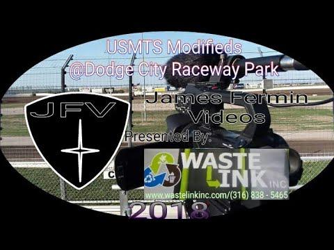 USMTS Modifieds #13, Heat 1, Dodge City Raceway Park, 06/08/18