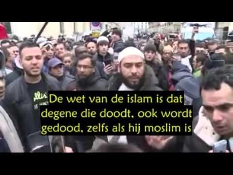 Een moslim geeft zijn commentaar na de aanslag in Parijs.
