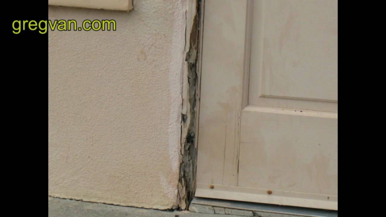 Termite Damage Around Door Jamb Trim Home Repair Tips