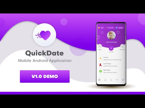 QuickDate Social Dating Android Application Demo V1.0.1 First Release