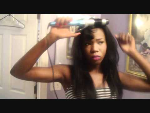 Curling chocolate yaky weave hair tutorial youtube pmusecretfo Image collections