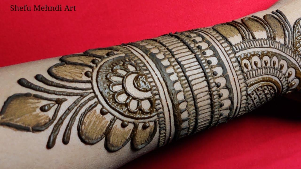 arabic back hand mehndi design bridal