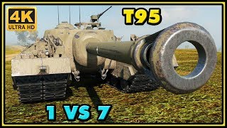 World of Tanks | T95 - 10 Kills - 8,7K Damage - 1 VS 7 Gameplay