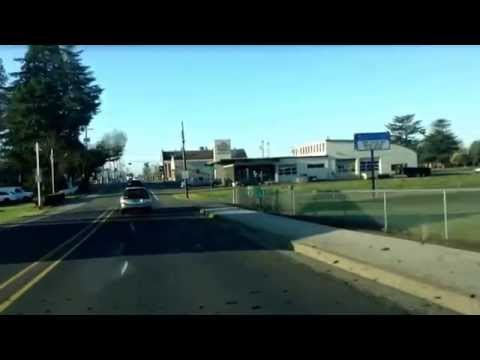 Driving from Newberg to Woodburn, Oregon; library to Walmart; Safeway; Fred Meyer;