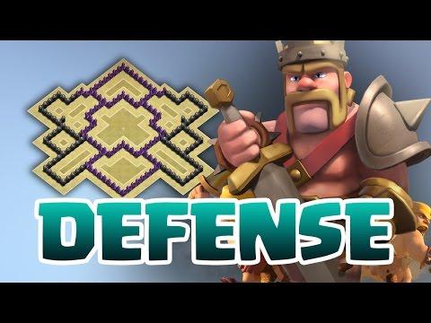 Clash of Clans - HDV 7 | VILLAGE DEFENSE #1