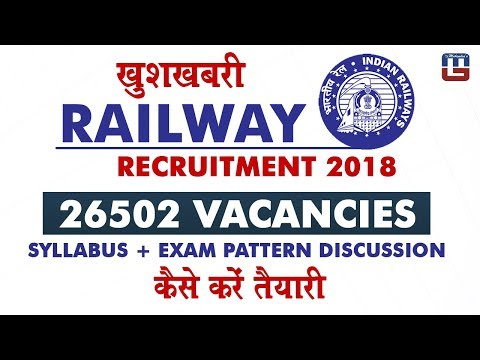 RRB Recruitment 2018: 26502 Vacancies | Syllabus + Exam Pattern Discussion  | Sarkari Naukari